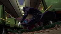 Hirato enters the train
