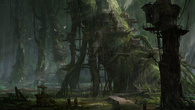 File:Fantasy town creative artwork swamp city 1920x1080 wallpaper Wallpaper 2560x1440 www.wall321.com (1).jpg