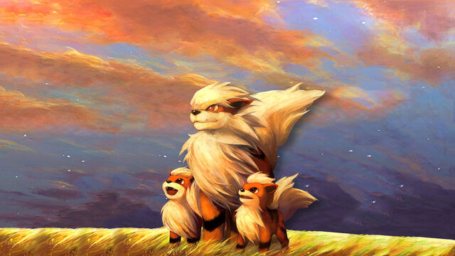 File:Arcanine with her puppy's.jpg