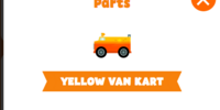 Yellow van kart