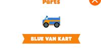 Blue van kart