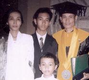 Wighar family- Endang Sadewi, Akbar de Wighar, Enggar Suwargadi and Halilintar WP