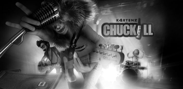 Kartenz Chuckill on stage BW