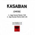 Empire (Jagz Kooner Remixes) Promo CD-R - 1