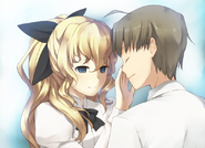Lilly feels Hisao's face