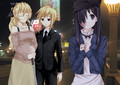 Akira, Lilly, and Hanako in the city.png