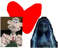 Wallace and Emily the Corpse Bride ove together