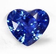 Blue no heat 1.69cts Heart Shape MARK SL13