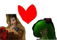 Zeena the Zeti and Victor Quatermaine love together