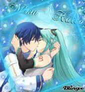 Miku and kaito kiss