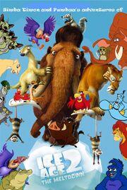 Simba Timon and Pumbaa's adventures of Ice Age The Meltdown