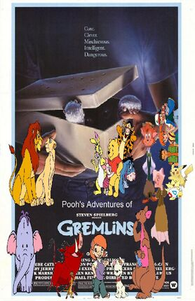 Pooh's Adventures of Gremlins poster (Version 2)