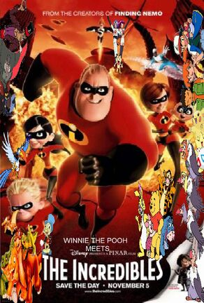 Winnie the Pooh Meets The Incredibles poster (Version 2) by BrianDuBose