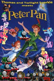 Thomas and Twilight Sparkle meets Peter Pan