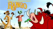 Timon and Pumbaa Meet Rango Poster
