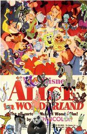 Spongebob and friends and Alice in wonderland