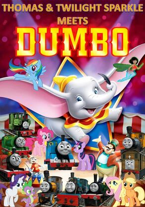 Thomas and Twilight Sparkle meets Dumbo Poster 2