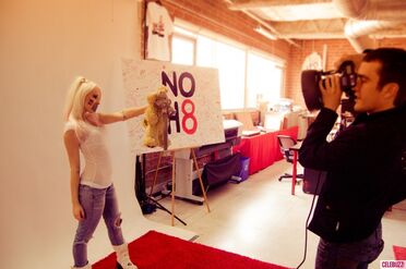 Kerli NOH8 Campaign Behind the Scenes Celebuzz 11
