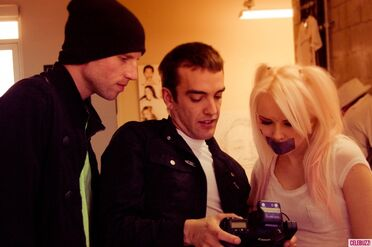 Kerli NOH8 Campaign Behind the Scenes Celebuzz 15