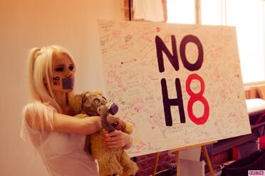 Kerli NOH8 Campaign Behind the Scenes Celebuzz 7