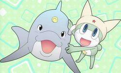 Shin Keroro and A dolphin