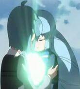 Shion and momoka hugging