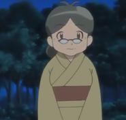 Akina in a kimono