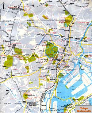 Keros Chronicles Tokyo Japan Map 1