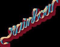 Rainbow slanted logo
