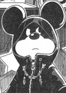 Mickey Mouse in black coat