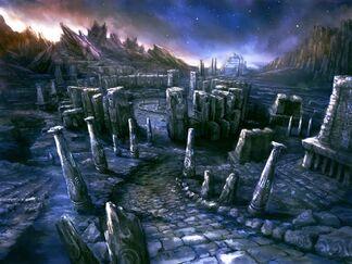 Temple en ruines