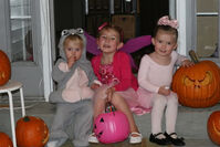 Girls wearing costumes