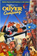 Simba Timon and Pumbaa's adventures of Oliver and Company Poster
