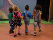 """With her friends at preschool in """"Girls Will Be Boys"""" (1992)"""
