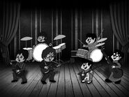 The 60 s 90 s chipmunk beatles black and white by peacekeeperj3low-d7umo8q