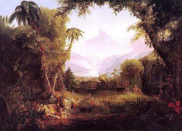 800px-Cole Thomas The Garden of Eden 1828