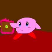 Kirby with powered up Recomissoning Devicve