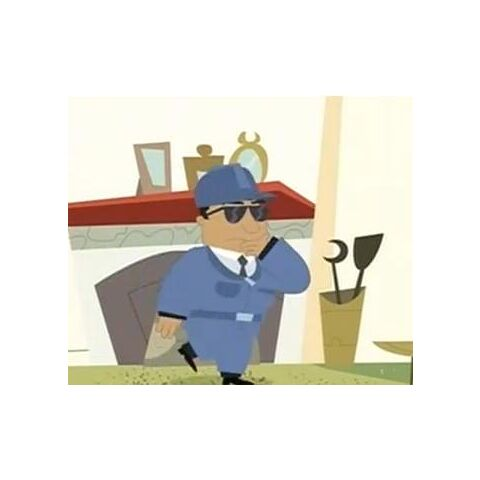 Agent Napolitan's disguise.