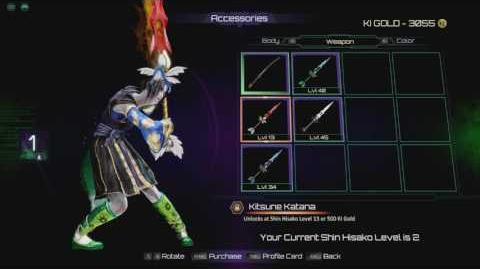 Killer Instinct Shin Hisako colours and accesories