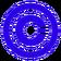 Blue copyright symbol