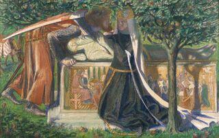 Dante Gabriel Rossetti - Arthur's Tomb (1860)