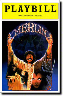 Merlin musical Playbill cover