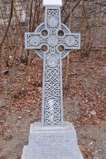 Lowertown celtic cross memorial to fallen canal workers