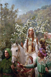 John Collier - Queen Guinevere's Maying (1900)