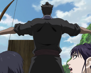 Dou Ken Protects Shika And Ei Sei From The Volley of Arrows anime S2