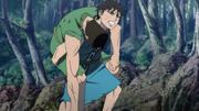 Shin Carries Bi Tou's Corpse anime S1