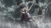 Shin holding Kyoukai Anime S2