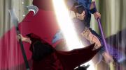 Ou Ki Destroys The Blade Of Hou Ken's Glaive anime S1
