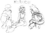 Kairi, Riku and Sora- Concept (Art) KH