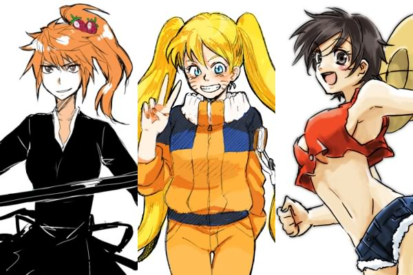 File:305220-20bleach20genderswap20kurosaki ichigo20monkey d luffy20naruto20ninja20one piece20pirate20shinigami20shounen20uzumaki naruto.jpg